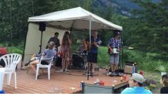 band on the yurt