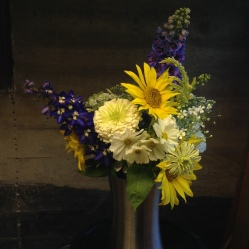 blues and yellows arrangement