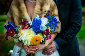rainbow bridal bouquet, fall wedding