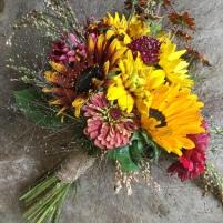 fall sunflower bridal bouquet