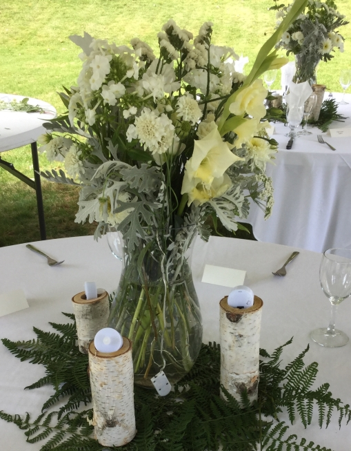 large white vase table center