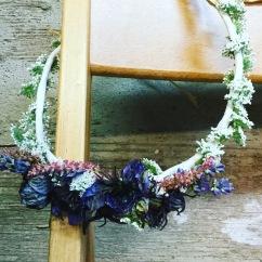 blues flower crown