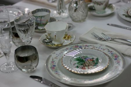 Vintage miss matched place settings