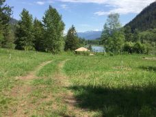 road to yurt event site