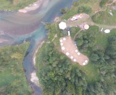 wedding venue from drone