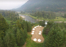 Bell tents from drone